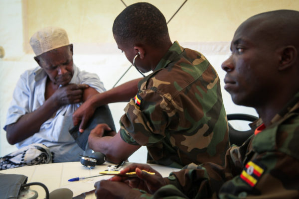 AMISOM Sets Up Clinic in Baidoa, Somalia: UN Photo/Abdi Dakan