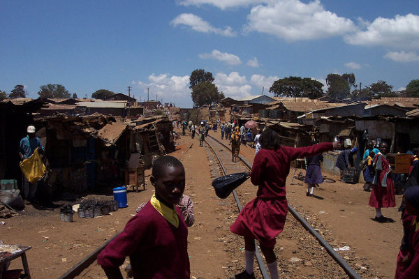 Scenes from the Kibera Slum in Nairobi. Photo : khym54