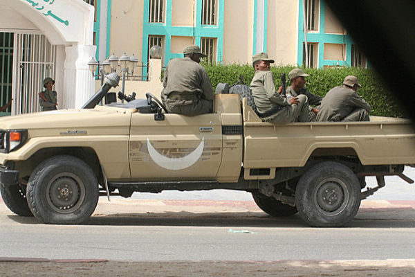 Mauritanian Soldiers After the Coup . Photo Magharebia