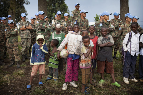 MONUSCO Peacekeepers Help Launch Soccer Schools in Goma, DRC. UN Photo/Sylvain Leichti