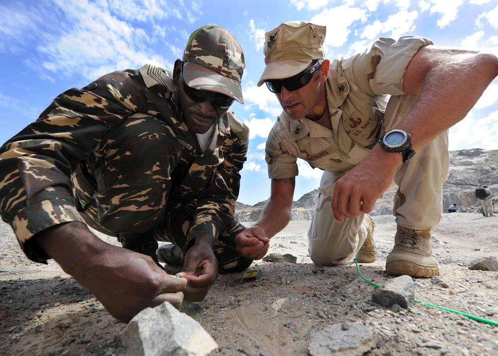 U.S. Navy, Namibian Forces Share Explosive Safety Skill