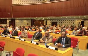 Participants at the Africa Center's CVE messaging workshop