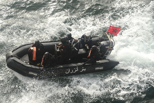 Members of a Moroccan navy. U.S. Navy photo