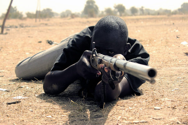 Local vigilantes Northern Nigeria. Photo: Conflict & Development at Texas A&M