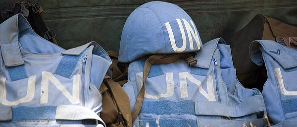 Helmet and Flack Jackets of MONUC Peacekeepers .UN Photo/Marie Frechon