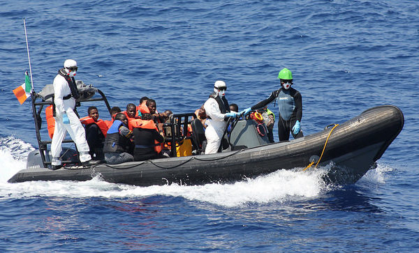 Irish Defence Forces - rescue of 98 migrants
