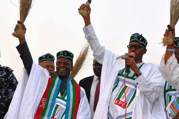 Buhari at a political rally