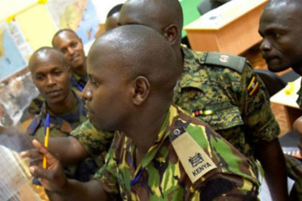 Officers from Kenya Burundi and Uganda