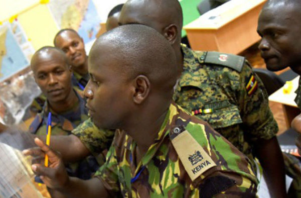 Officers from Kenya, Burundi & Uganda