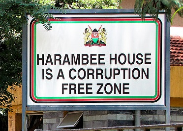 corruption free zone - kenya Photo: Babak Fakhamzadeh
