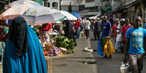 A market in Mombasa
