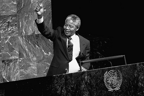Nelson Mandela (ANC) Addresses Special Committee Against Apartheid. UN Photo/P