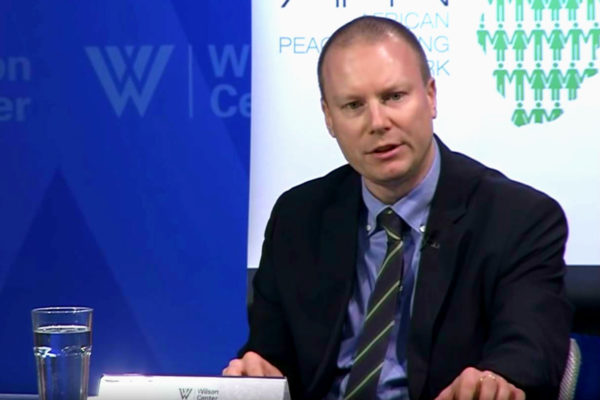 Dr. Ben Nickels at the Wilson Center