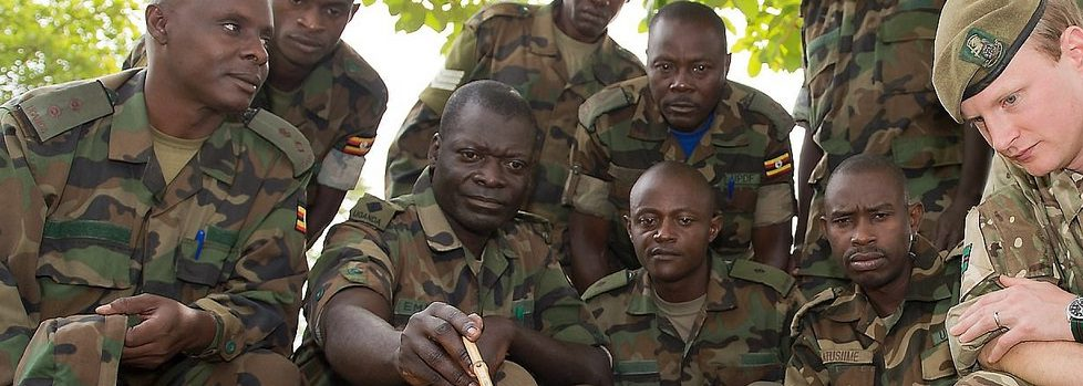UK Army Reservist Training Ugandan Soldiers