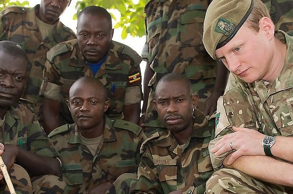 UK Army Reservist Training Ugandan Soldiers