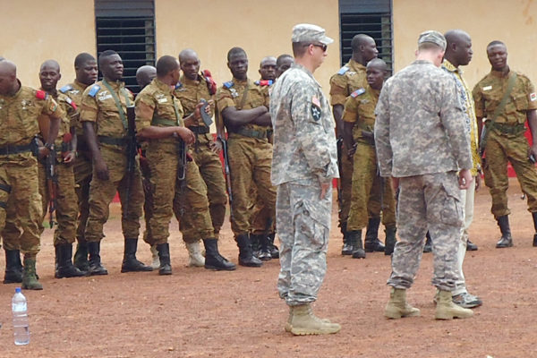 Burkina Faso Counter Terrorism Company receives training and equipment (U.S. Army Africa photo)
