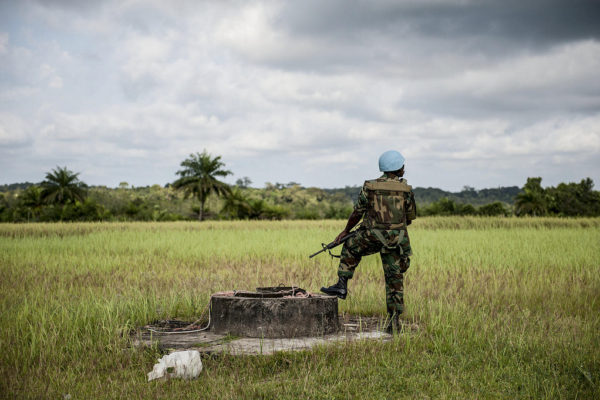 UN Peacekeeper on Duty in Liberia