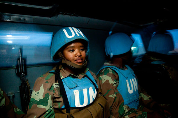 UNAMID South African troops on Night Patrol in Kutum