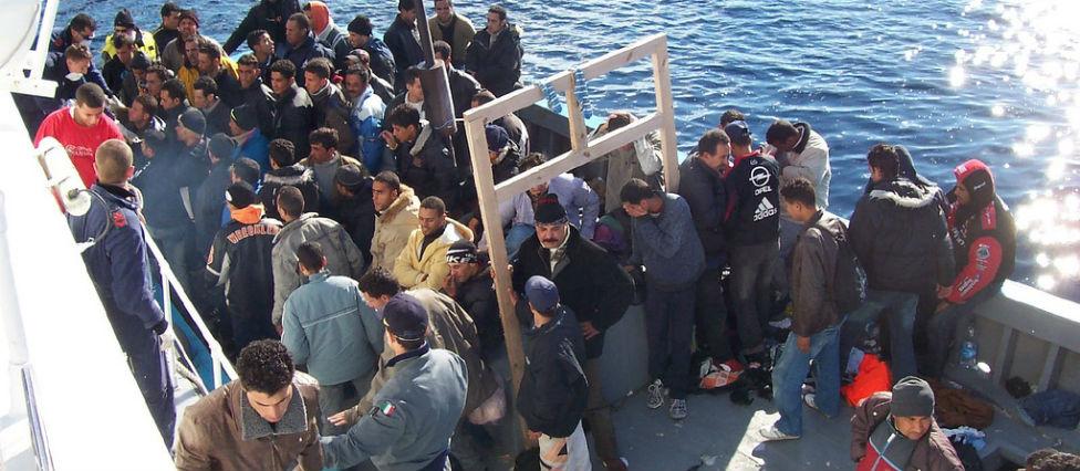 North African migrants at Lampedusa. Photo: Vito Manzari