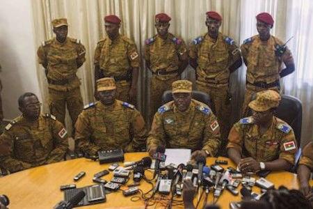 Burkina Faso press conference military
