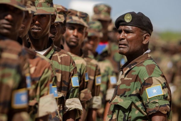 Somali National Army Passout Parade. AU-UN IST PHOTO / STUART PRICE.