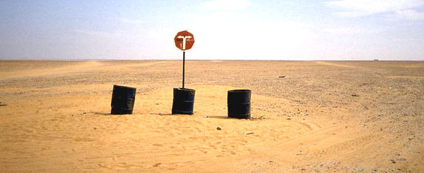 A road sign in Niger. Photo: Albert Backer