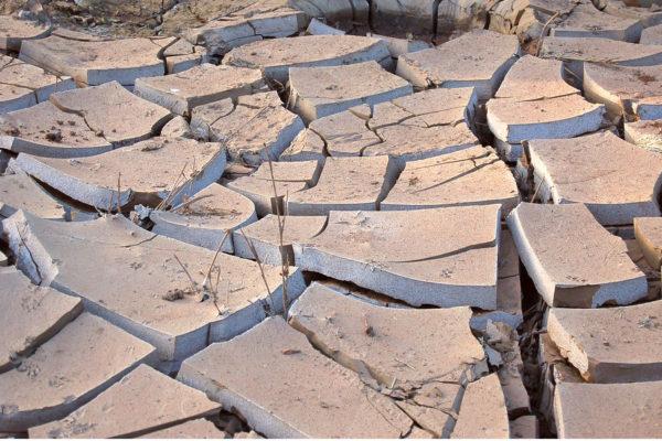 Dry river bed in Kenya