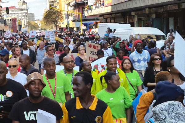 A March in Johannesburg