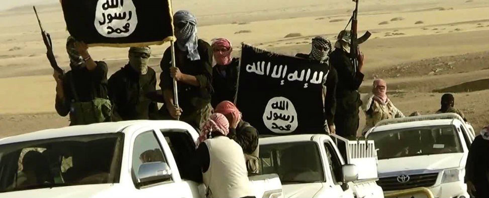 Islamic State fighters. Photo: Day Donaldson.
