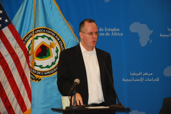Paul Williams speaks at the Africa Center's program on Africa's Contemporary Security Challenges