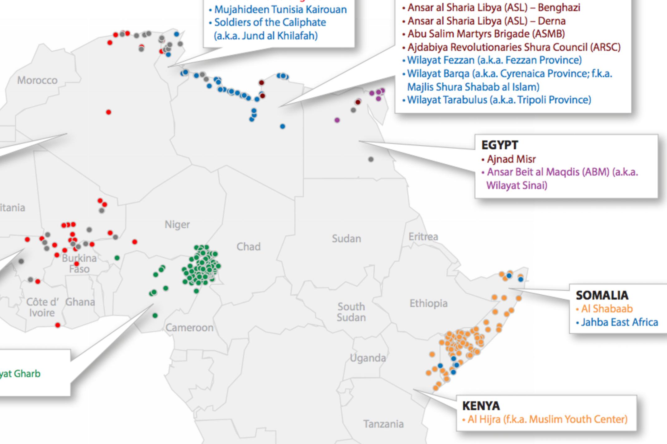 Africa's Active Militant Islamist Groups