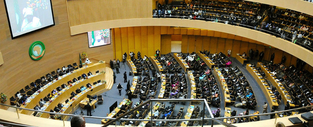 The African Union in Addis Ababa, Ethiopia