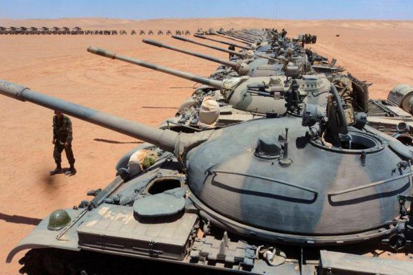 A Polisario tank division in 2012.