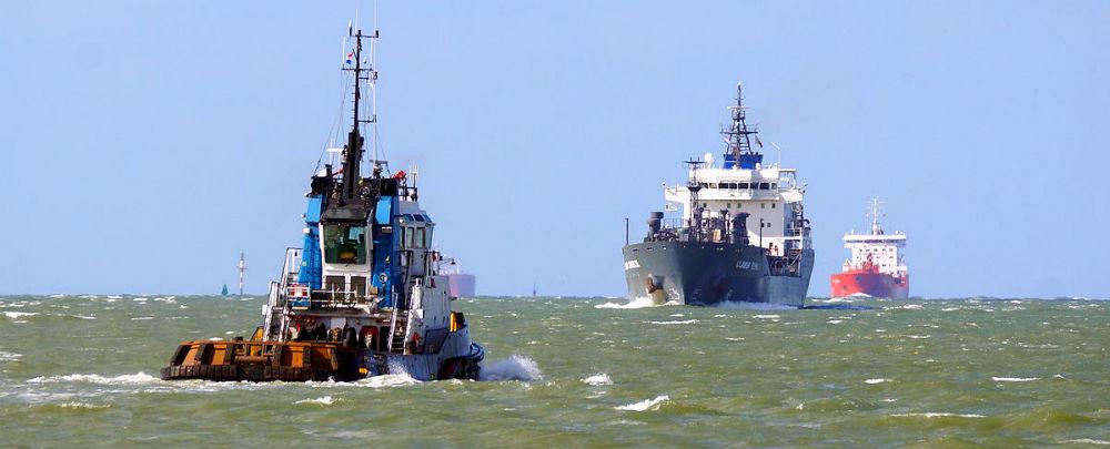 Cargo Ships at Takoradi Harbour, Ghana