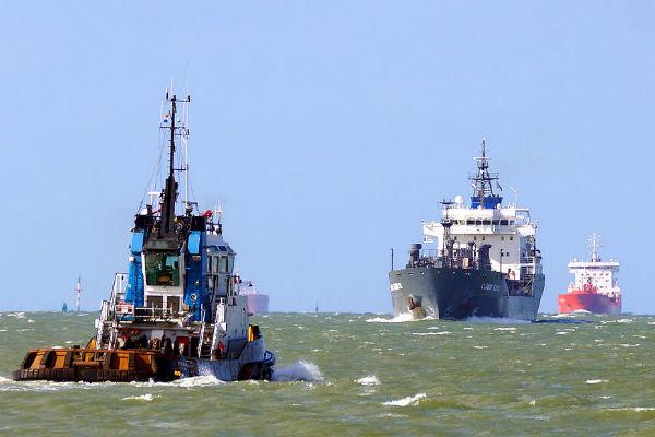Cargo Ships at Takoradi Harbour