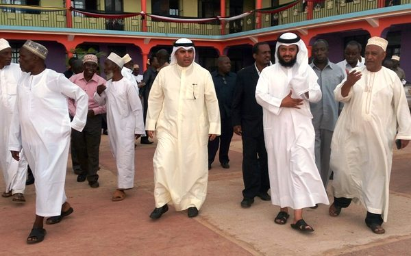 Kuwaiti officials at Africa Muslims Agency building in Tanzania. Photo: Fadhili Abdallah