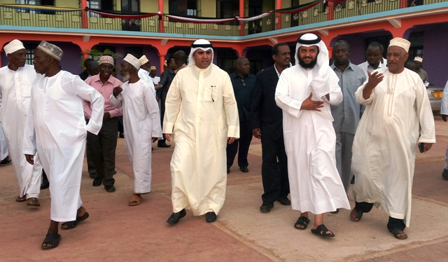 Kuwaiti officials at an Africa Muslims Agency building in Tanzania. Photo: Fadhili Abdallah