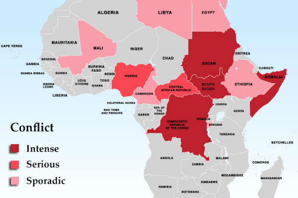 Overlapping Effects of Autocracy and Conflict in Africa