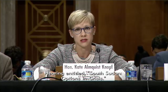 Kate Almquist Knopf testifies on South Sudan at the Senate Foreign Relations Committee
