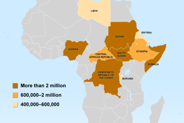 Population Displacement in Africa - Top 10 Countries of Origin