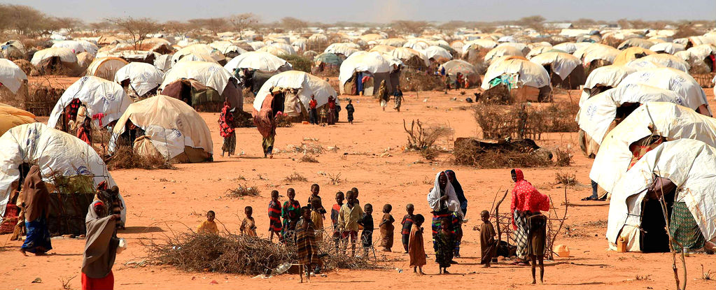 A Somali refugee camp