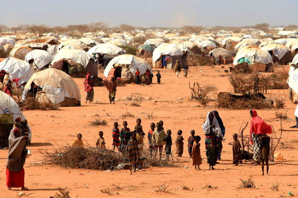A Somali refugee camp