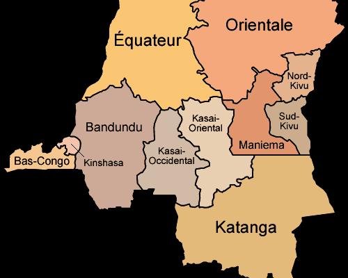 DRC provinces before 2015