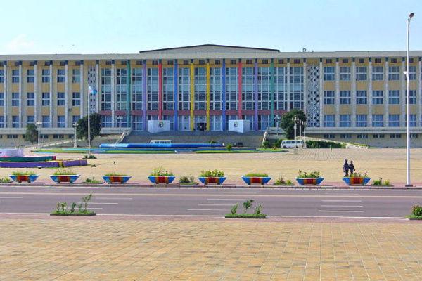 The Palais du Peuple in Kinshasa.