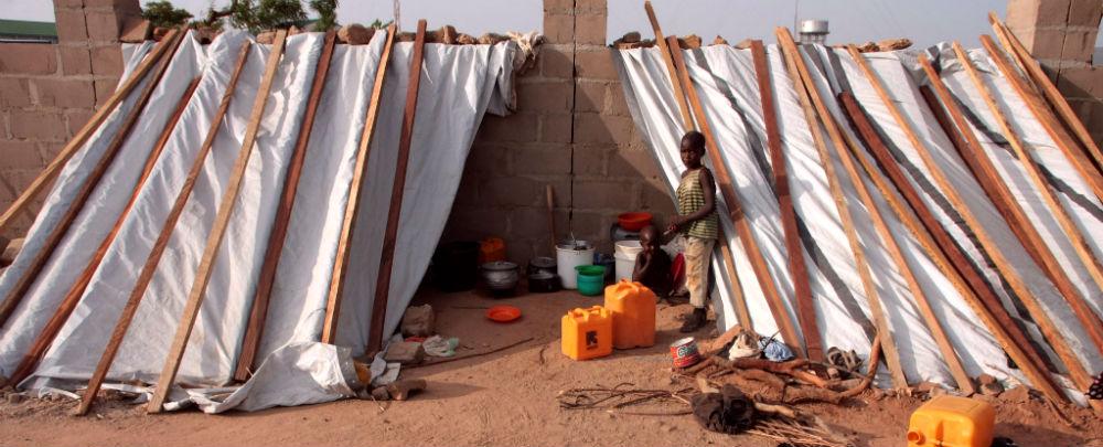 Boko Haram displaced in Yoba