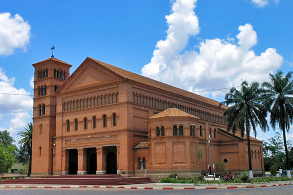 The Catholic Cathedral of Sts. Peter and Paul in Lubumbashi