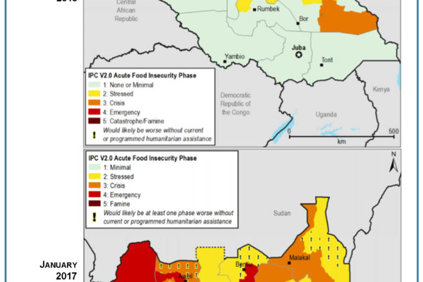 Food Insecurity in South Sudan 2013 v 2017