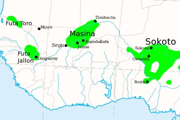 The Fulani Jihad States of West Africa, c. 1830.