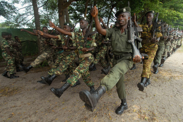 Burundi soldiers prepare for a rotation to AMISOM