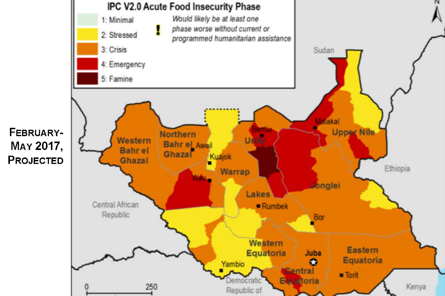 Conflict and Famine in South Sudan 900x600